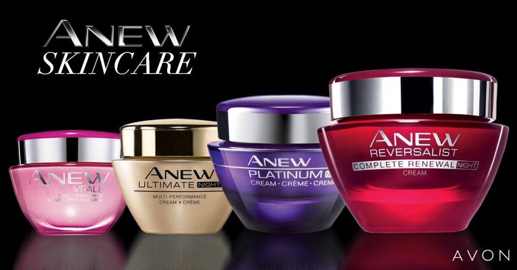 A selection of the products from the Anew range